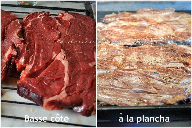 Boeuf a la plancha - recette plancha - Cuisson à la plancha de la basse côte de bœuf maturé par notre boucher pendant à 21 jours