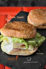 Recette plancha - Hamburger toasté façon croque monsieur