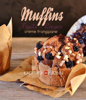 Recette muffins - muffins à la crème frangipane aux fruits rouges