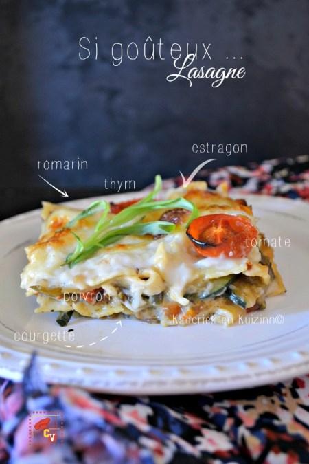 Recette lasagne - Plat de lasagne de légumes bio à la provençale Culino Versions