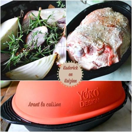 Agneau confit - Recette sucrée-salée d'épaule d'agneau à la rôtissoire Yoko Design
