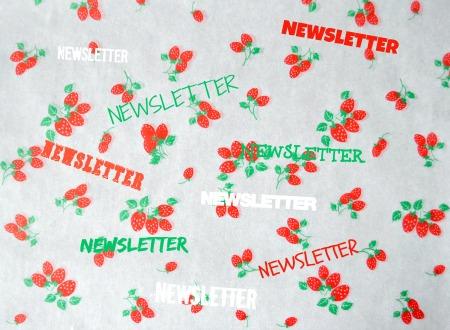 Logo newsletter fond fraises