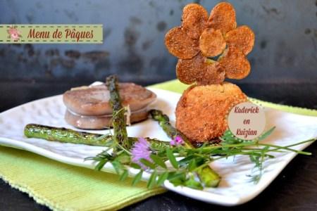 Recette cromesquis de purée au jaune d'œuf coulant et légumes verts pour Pâques