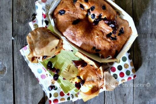 Recette cake et muffins à l'ananas et cranberries pour gouter