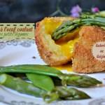 Recette cromesquis de pomme de terre à l'œuf coulant et légumes verts