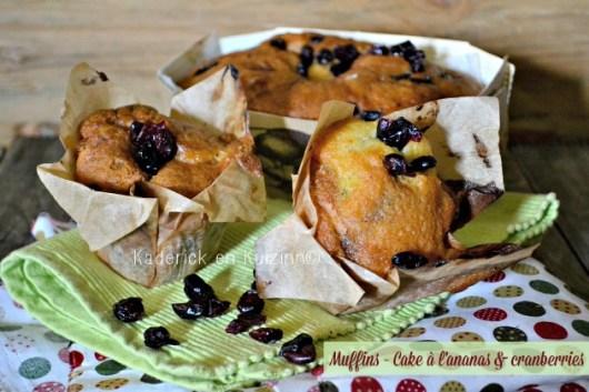 Recette cake et muffins à l'ananas et cranberries