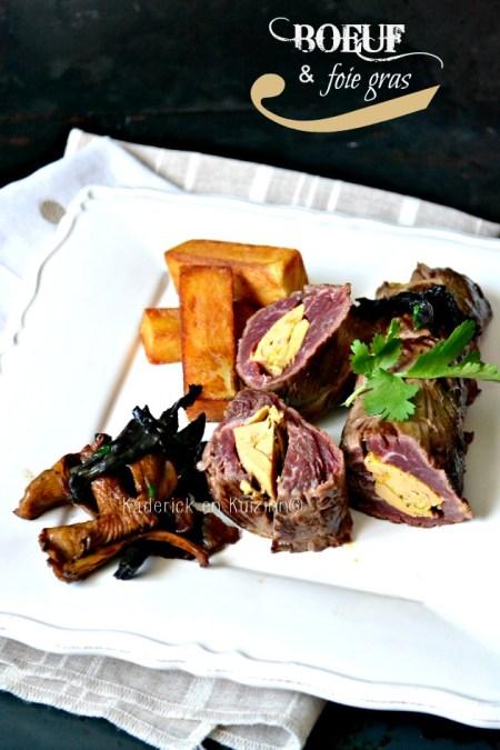 Plancha onglet - Rôti d'onglet farci de foie gras mi-cuit de canard à la plancha