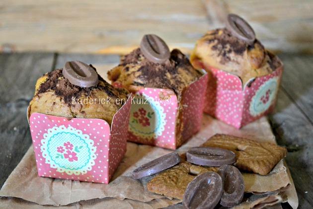 Recette gouter des muffins aux spéculoos et double chocolat