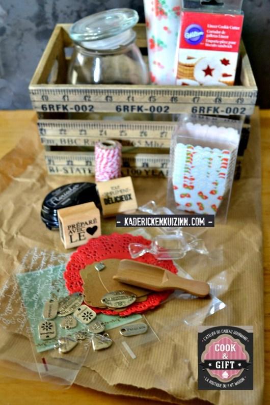Caisse bois decoration cadeau offert Cook Gift pour partenariat