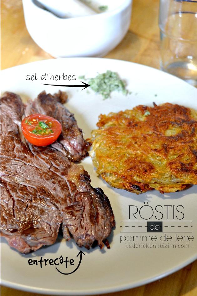 Plancha rosti - Recette röstis aux pommes de terre à la plancha et sel d'herbes
