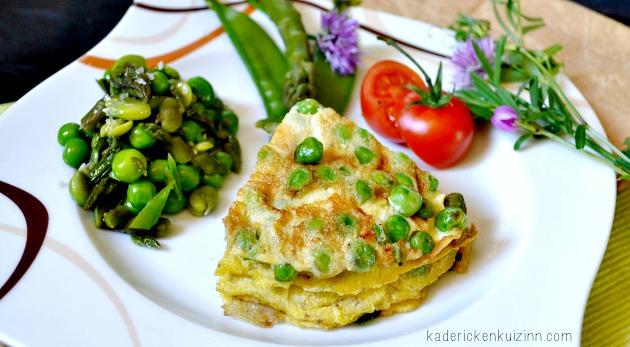 Salade bio - omelette de légumes bio