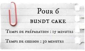 Bundt cake aux noisttes poires et caramel beurre salé