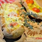 Eggs boat - Petits pains aux oeufs brouillés, tomates et fromage