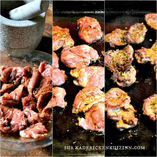 Joues porc - Recette cuisson plancha joues de porc aux épices cajun