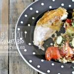 Poulet roti - Poulet aux légumes d'été et trio de céréales bio
