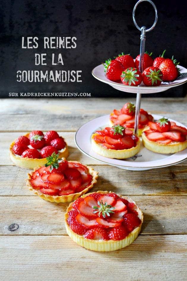 Recette fraise - Tartelettes fraises bio et crème mousseuse vanille