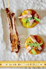 Toast canard - Aiguillette canard à la plancha trio de tomate bio et polenta Cuisine plancha