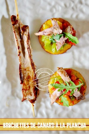 Toast canard - Aiguillette canard à la plancha trio de tomate bio et polenta