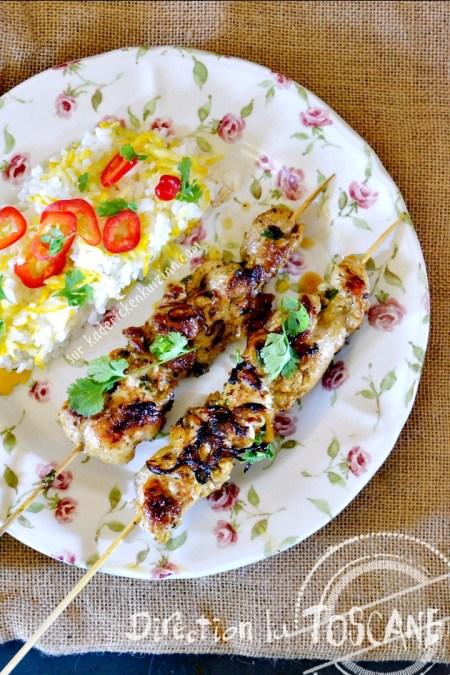 Plancha araignee - Brochette d'araignee ou cigaline de porc à la Toscane