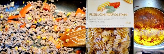 One pan pasta - Fusilloni à la bolognaise chorizo et légumes bio