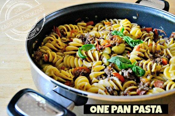 One pan pasta - Fusilloni à la bolognaise chorizo et légumes