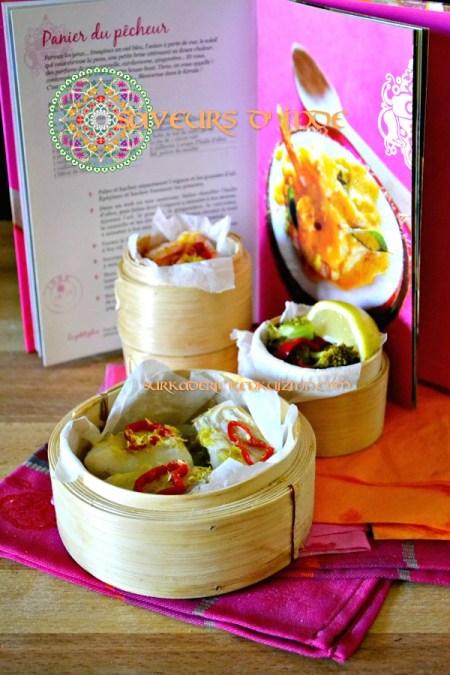 Destination Inde - Panier vapeur de cabillaud crevette aux saveurs d'Inde