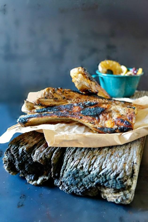 Travers porc - Recette plancha des travers de porc hawaïen jus d'ananas