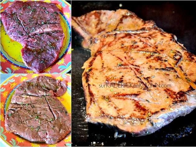 Paleron boeuf - Paleron mariné au balsamique et grillé à la plancha