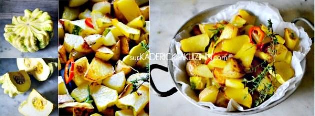 Recette patisson - Poêlée saine et bio de patisson aux pommes de terre