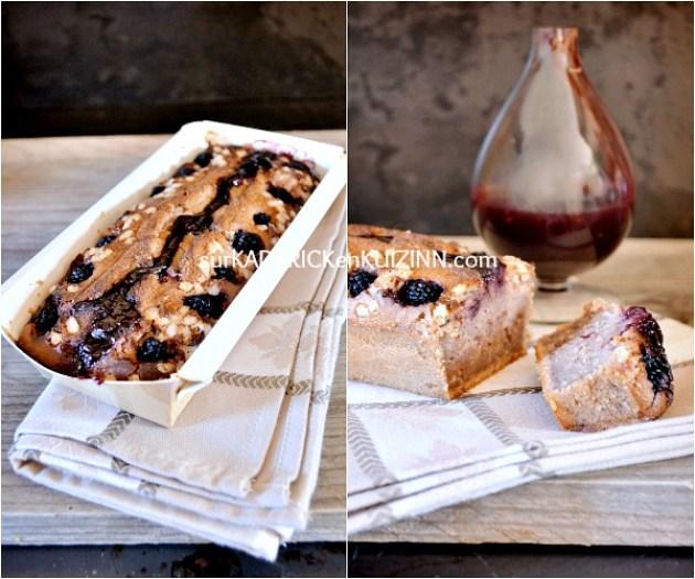 Cake recette - Cake aux mûres et confiture aux fruits rouges fait maison