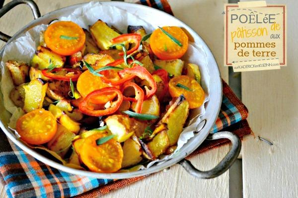 Recette patisson - Poêlée bio de patisson aux pommes de terre
