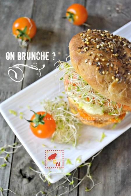 Brunch - Bundt cake saumon fumé mozzarella et pousses d'alfalfa bio