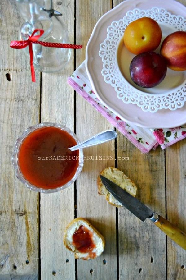 Confiture prunes - Recette de confiture aux prunes abricots vanille gingembre bio