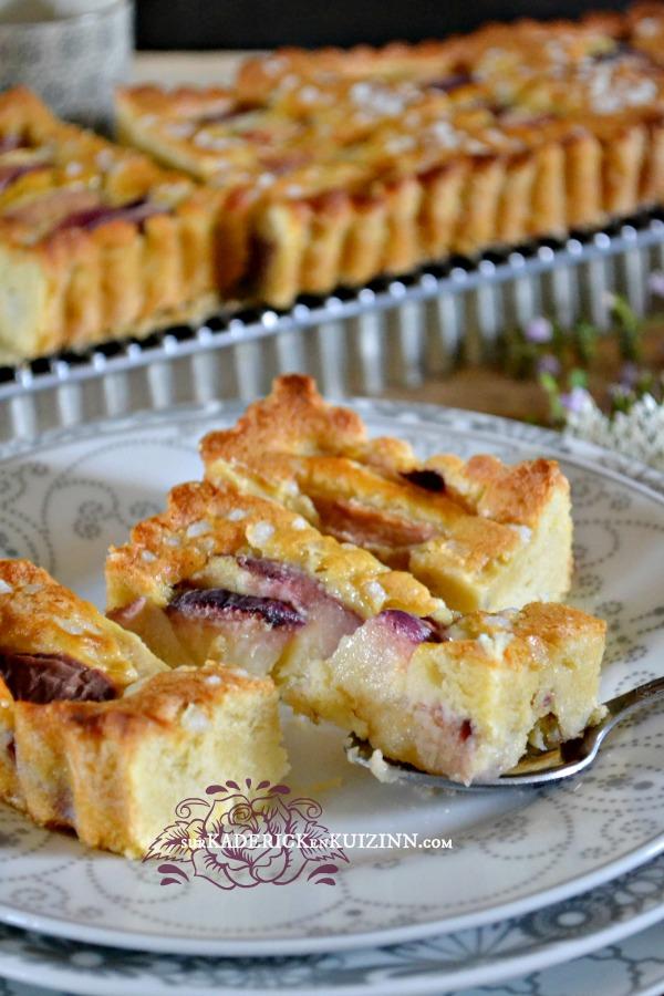 Tarte madeleine - Recette de la tarte madeleine aux pêches bio