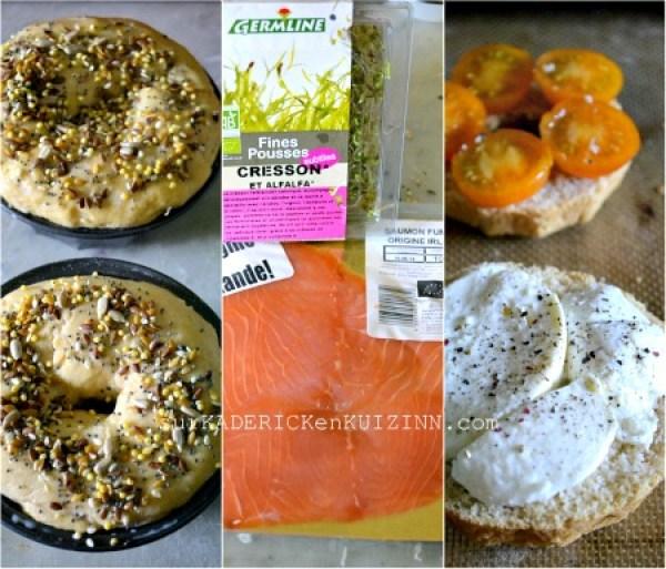 Brunch - Bundt cake saumon fumé mozzarella et pousses d'alfalfa