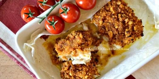 Recette four - Dos de merlu en crumble de tapenade à la tomate