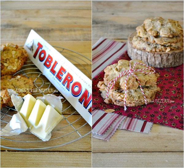 Recette cookies - Cookies aux amandes et chocolat Toblerone blanc