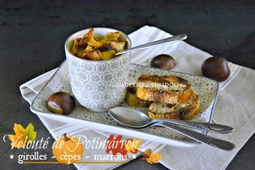 Veloute potimarron - Recette chestnut bush cèpes et marrons