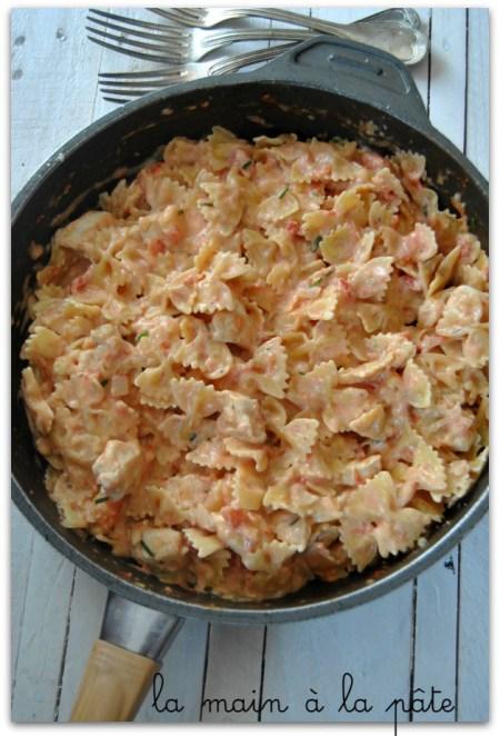 farfalle-crémeuses-au-poulet-one-pot-pasta - recette 34