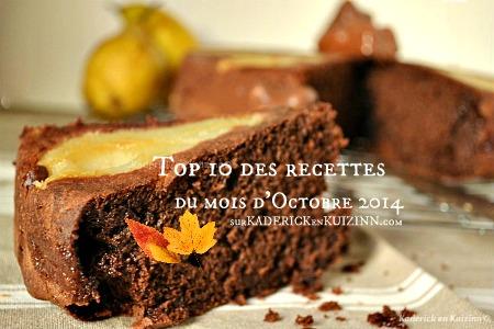 Octobre 2014 - Top 10 des recettes d'Octobre sur Kaderick