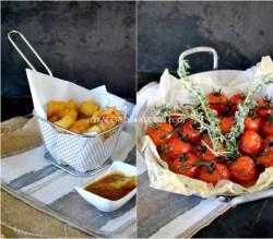 Plancha agneau - Carré d'agneau accompagné de frites et tomates