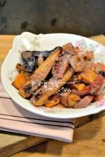 Cuisine legume ancien - Recette de légumes rôtis au lait d'amande bio chez Kaderick
