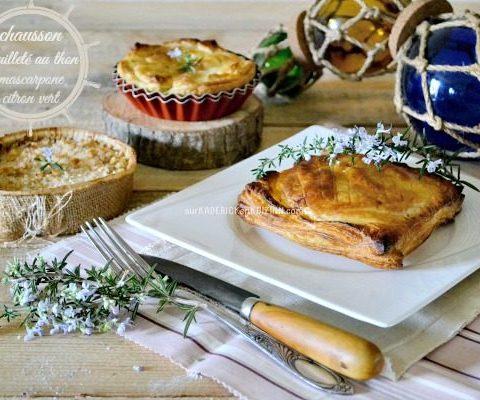 Chausson feuillete - Chausson au thon mascarpone et citron vert