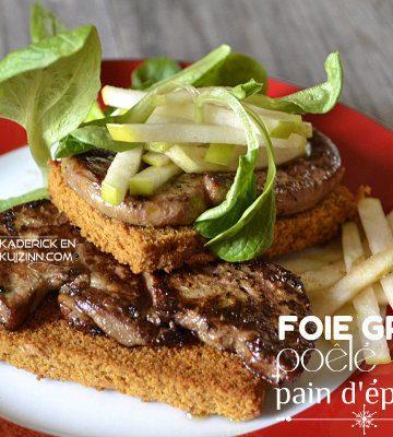 Jour 14 Calendrier de l'avent 2014 chez Kaderick en Kuizinn© foie gras poele