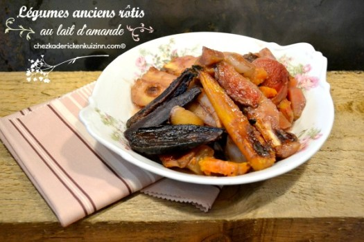Legumes anciens - Recette de légumes rôtis au lait d'amande