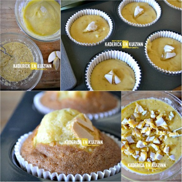 Recette cupcakes frangipane aux calissons et glaçage vanille - Kaderick en Kuizinn