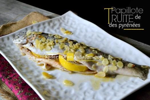 Truites amandes - Papillote truite des Pyrénées à l'aneth - Kaderick en kuizinn