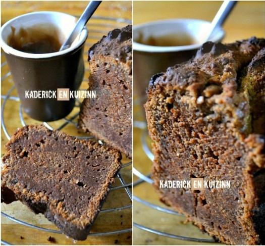 Découpe Cake fondant - Ultra fondant au chocolat et crème de marron | Kaderick en Kuizinn