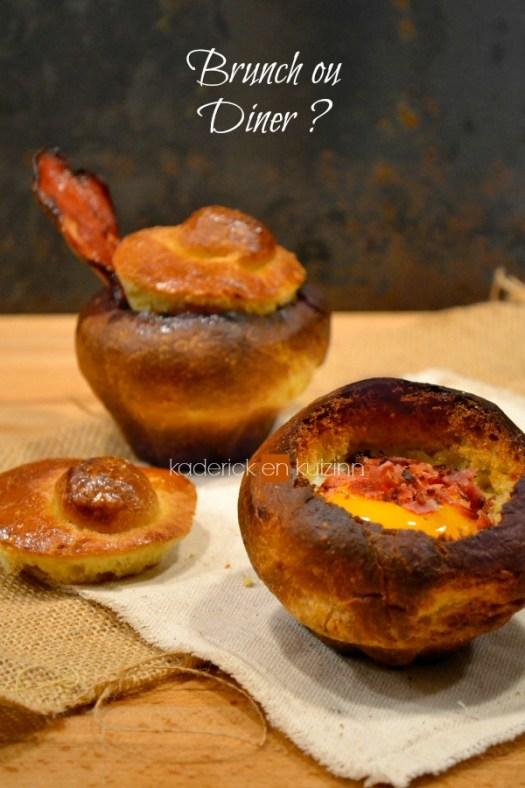 Dégustation briochettes salées aux œufs et crumble de poitrine fumée - Kaderick en Kuizinn