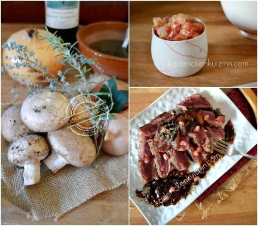 Ingrédients recette plancha boeuf de dessus de palette sauce forestière - Kaderick en Kuizinn